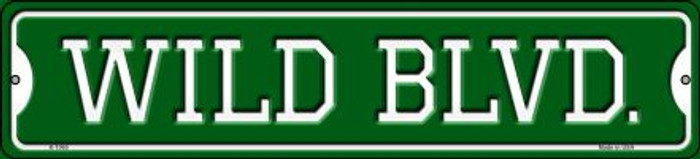 Wild Blvd Novelty Small Metal Street Sign K-1060