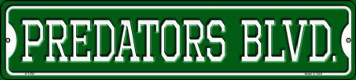 Predators Blvd Novelty Small Metal Street Sign K-1061