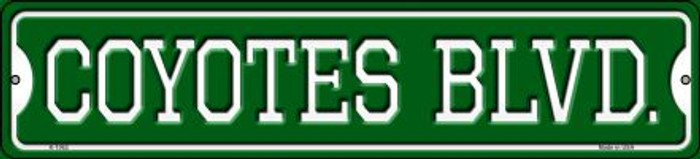 Coyotes Blvd Novelty Small Metal Street Sign K-1062
