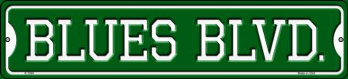 Blues Blvd Novelty Small Metal Street Sign K-1064