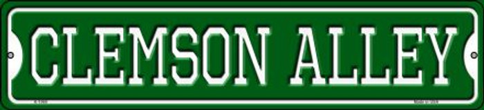Clemson Alley Novelty Small Metal Street Sign K-1069