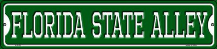 Florida State Alley Novelty Small Metal Street Sign K-1072