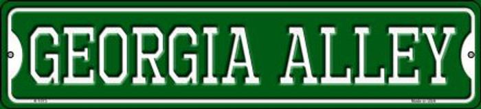 Georgia Alley Novelty Small Metal Street Sign K-1073