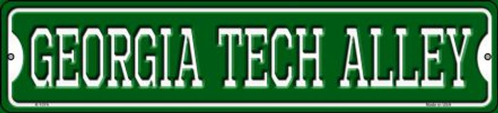 Georgia Tech Alley Novelty Small Metal Street Sign K-1074