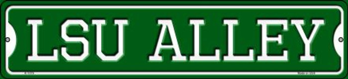 LSU Alley Novelty Small Metal Street Sign K-1078