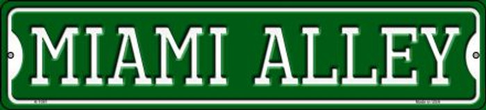 Miami Alley Novelty Small Metal Street Sign K-1081