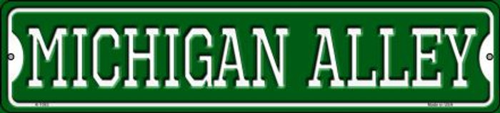 Michigan Alley Novelty Small Metal Street Sign K-1083