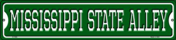 Mississippi State Alley Novelty Small Metal Street Sign K-1085