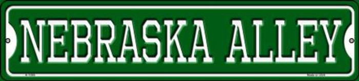 Nebraska Alley Novelty Small Metal Street Sign K-1086