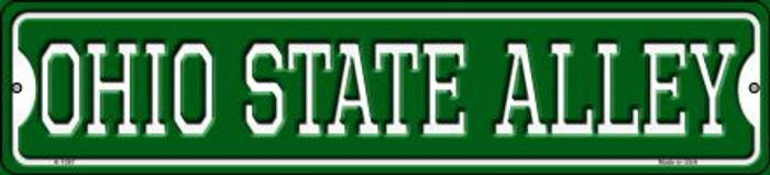 Ohio State Alley Novelty Small Metal Street Sign K-1087