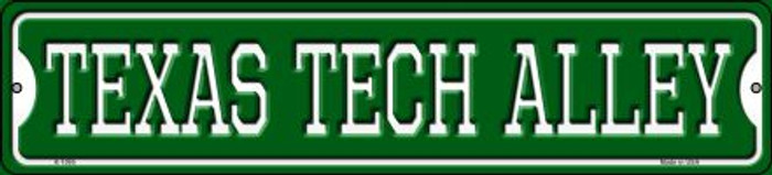 Texas Tech Alley Novelty Small Metal Street Sign K-1095