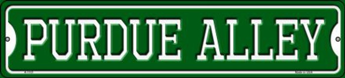 Purdue Alley Novelty Small Metal Street Sign K-1101