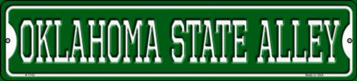 Oklahoma State Alley Novelty Small Metal Street Sign K-1103