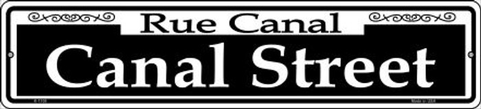Canal Street Novelty Small Metal Street Sign K-1108