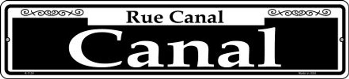 Canal Novelty Small Metal Street Sign K-1124