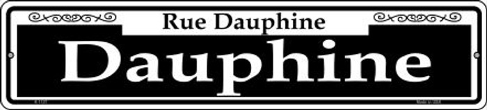 Dauphine Novelty Small Metal Street Sign K-1127
