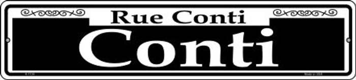 Conti Novelty Small Metal Street Sign K-1134