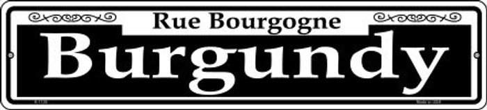 Burgundy Novelty Small Metal Street Sign K-1138