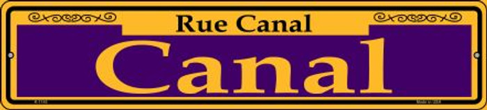 Canal Purple Novelty Small Metal Street Sign K-1145