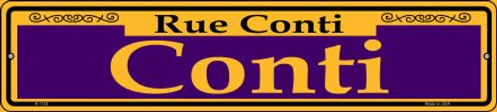 Conti Purple Novelty Small Metal Street Sign K-1155