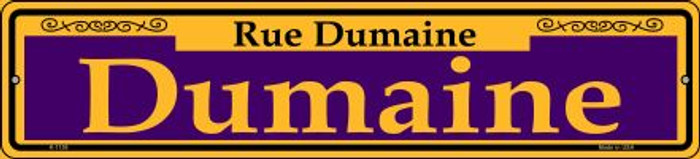 Dumaine Purple Novelty Small Metal Street Sign K-1158
