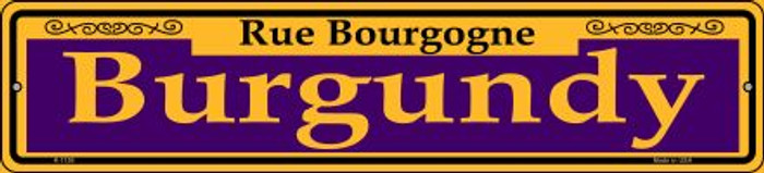 Burgundy Purple Novelty Small Metal Street Sign K-1159
