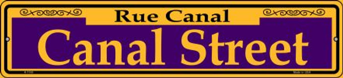 Canal Street Purple Novelty Small Metal Street Sign K-1165
