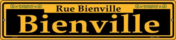 Bienville Yellow Novelty Small Metal Street Sign K-1173