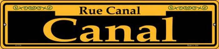 Canal Yellow Novelty Small Metal Street Sign K-1174