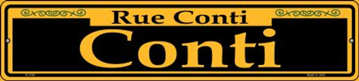 Conti Yellow Novelty Small Metal Street Sign K-1184