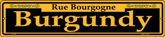 Burgundy Yellow Novelty Small Metal Street Sign K-1188