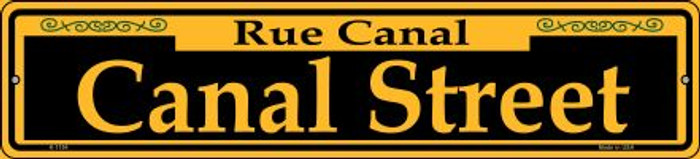Canal Street Yellow Novelty Small Metal Street Sign K-1194