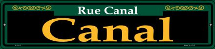 Canal Green Novelty Small Metal Street Sign K-1203