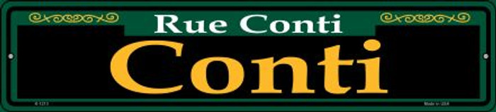 Conti Green Novelty Small Metal Street Sign K-1213