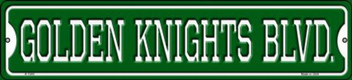 Golden Knights Blvd Novelty Small Metal Street Sign K-1240