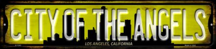 Los Angeles California City of Angels Novelty Small Metal Street Sign K-1242