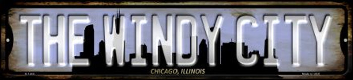 Chicago Illinois The Windy City Novelty Small Metal Street Sign K-1245