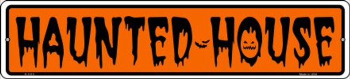 Haunted House Novelty Small Metal Street Sign K-1313