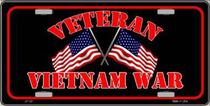 Vietnam War Veteran Novelty Metal License Plate