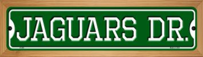 Jaguars Dr Novelty Wood Mounted Small Metal Street Sign WB-K-959
