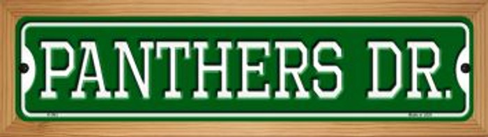 Panthers Dr Novelty Wood Mounted Small Metal Street Sign WB-K-963
