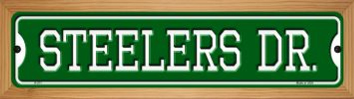 Steelers Dr Novelty Wood Mounted Small Metal Street Sign WB-K-971
