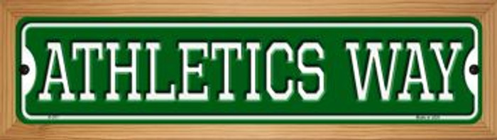 Athletics Way Novelty Wood Mounted Small Metal Street Sign WB-K-977