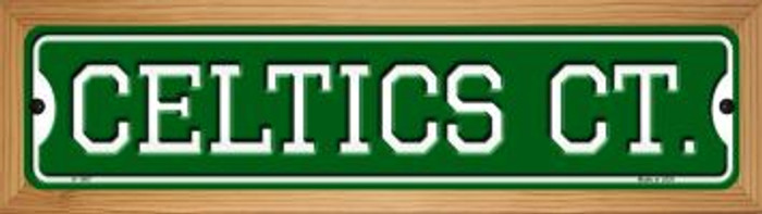 Celtics Ct Novelty Wood Mounted Small Metal Street Sign WB-K-1007