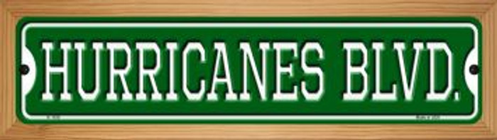 Hurricanes Blvd Novelty Wood Mounted Small Metal Street Sign WB-K-1038