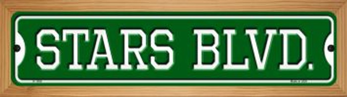 Stars Blvd Novelty Wood Mounted Small Metal Street Sign WB-K-1056