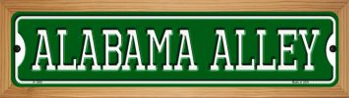 Alabama Alley Novelty Wood Mounted Small Metal Street Sign WB-K-1066