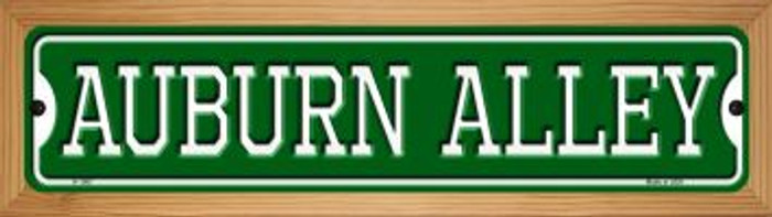 Auburn Alley Novelty Wood Mounted Small Metal Street Sign WB-K-1067