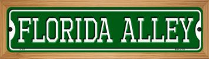 Florida Alley Novelty Wood Mounted Small Metal Street Sign WB-K-1071