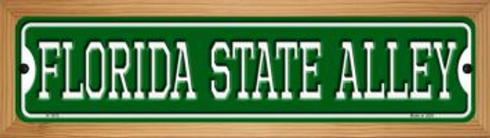 Florida State Alley Novelty Wood Mounted Small Metal Street Sign WB-K-1072